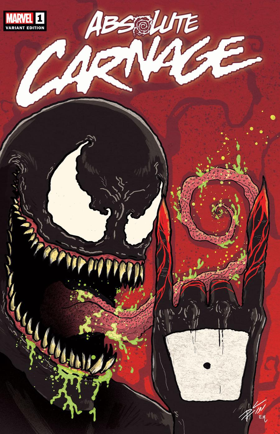 Absolute Carnage #1  Midtown Exclusive Donny Cates Variant Cover
