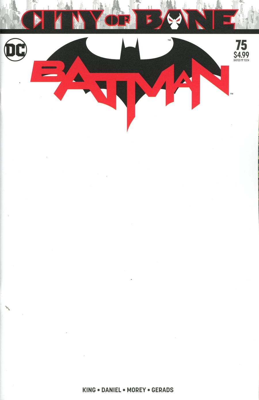 Batman Vol 3 #75 Cover C Variant Blank Cover (Year Of The Villain The Offer Tie-In)