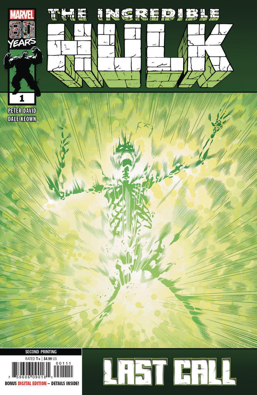 Incredible Hulk Last Call #1 Cover E 2nd Ptg Variant Dale Keown Cover