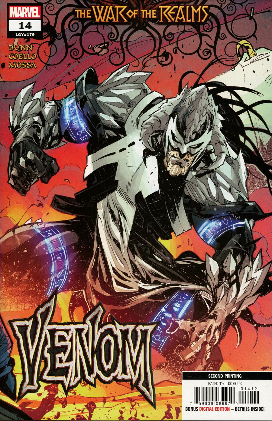 Venom Vol 4 #14 Cover D 2nd Ptg Variant Iban Coello Cover (War Of The Realms Tie-In)