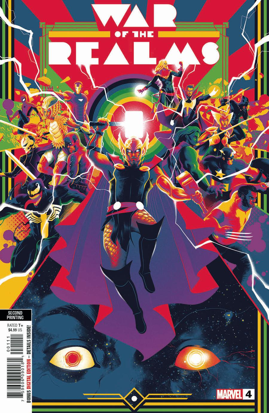 War Of The Realms #4 Cover J 2nd Ptg Variant Russell Dauterman Cover