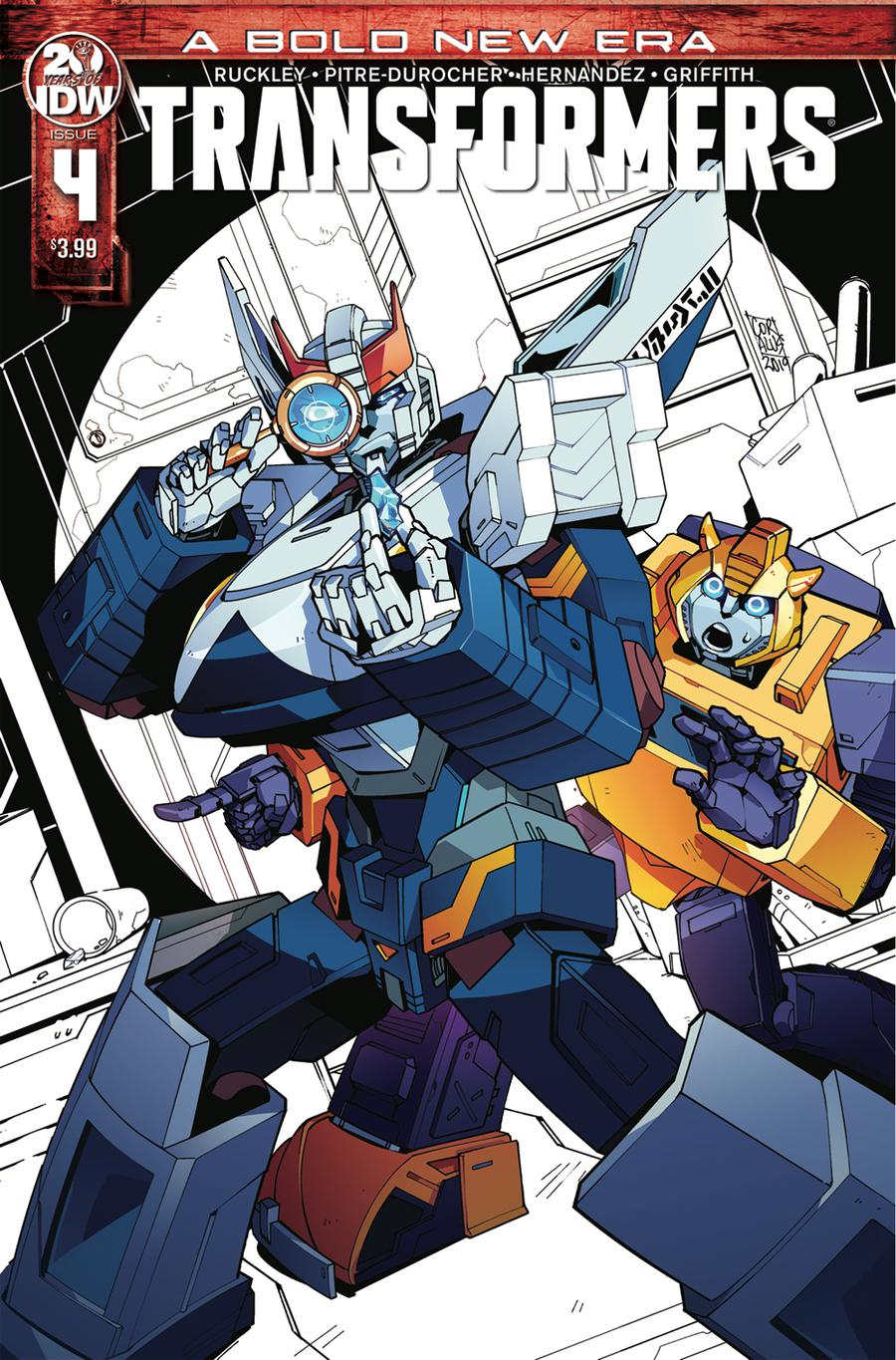 Transformers Vol 4 #4 Cover D 2nd Ptg Variant Sara Pitre-Durocher Cover