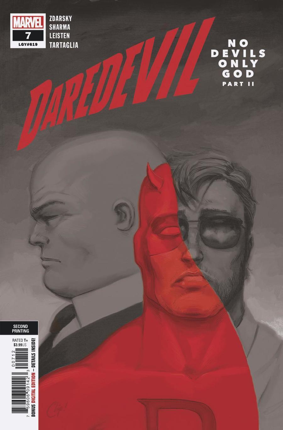 Daredevil Vol 6 #7 Cover C 2nd Ptg Variant Chip Zdarsky Cover