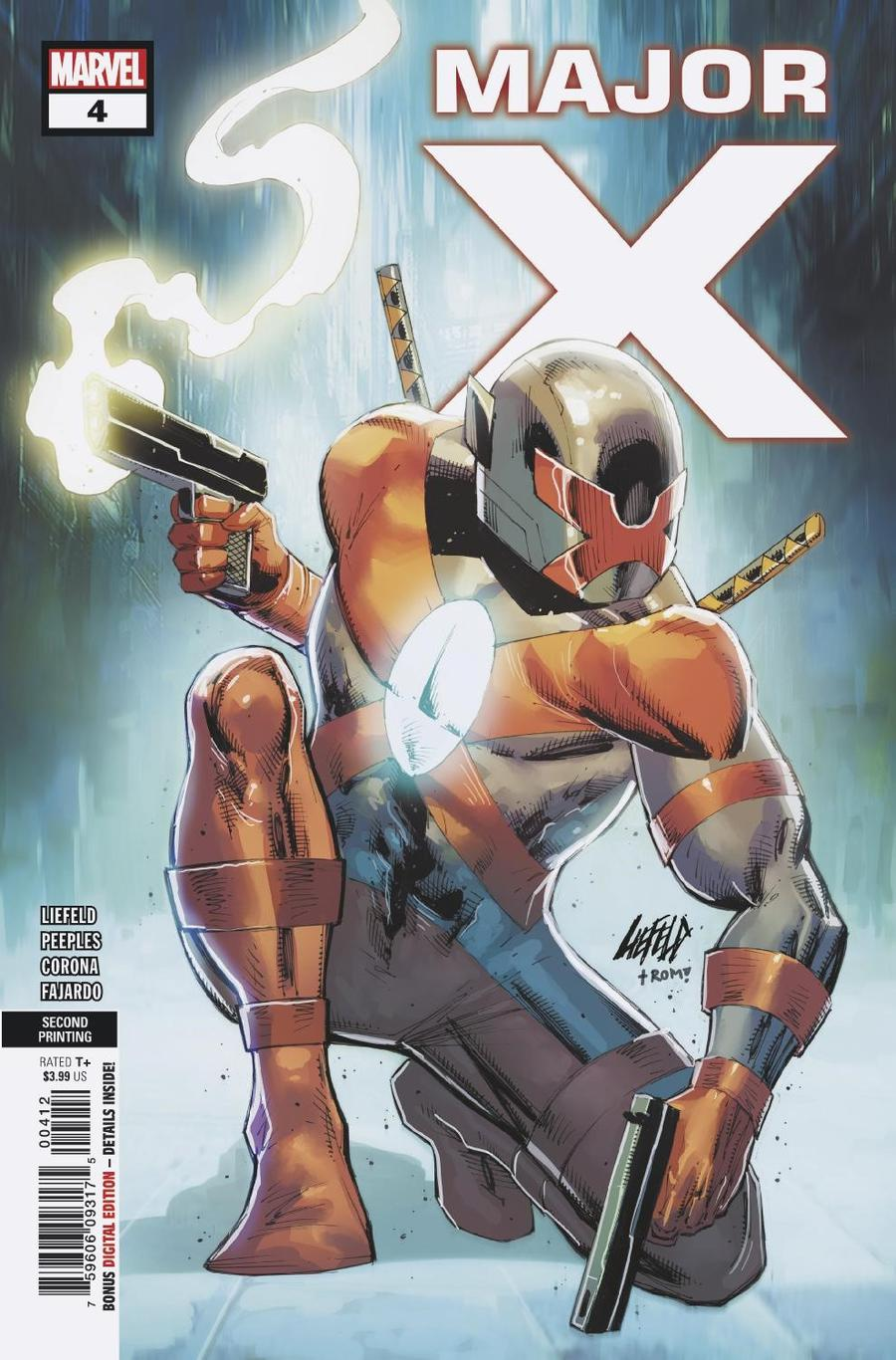 Major X #4 Cover B 2nd Ptg Variant Rob Liefeld Cover