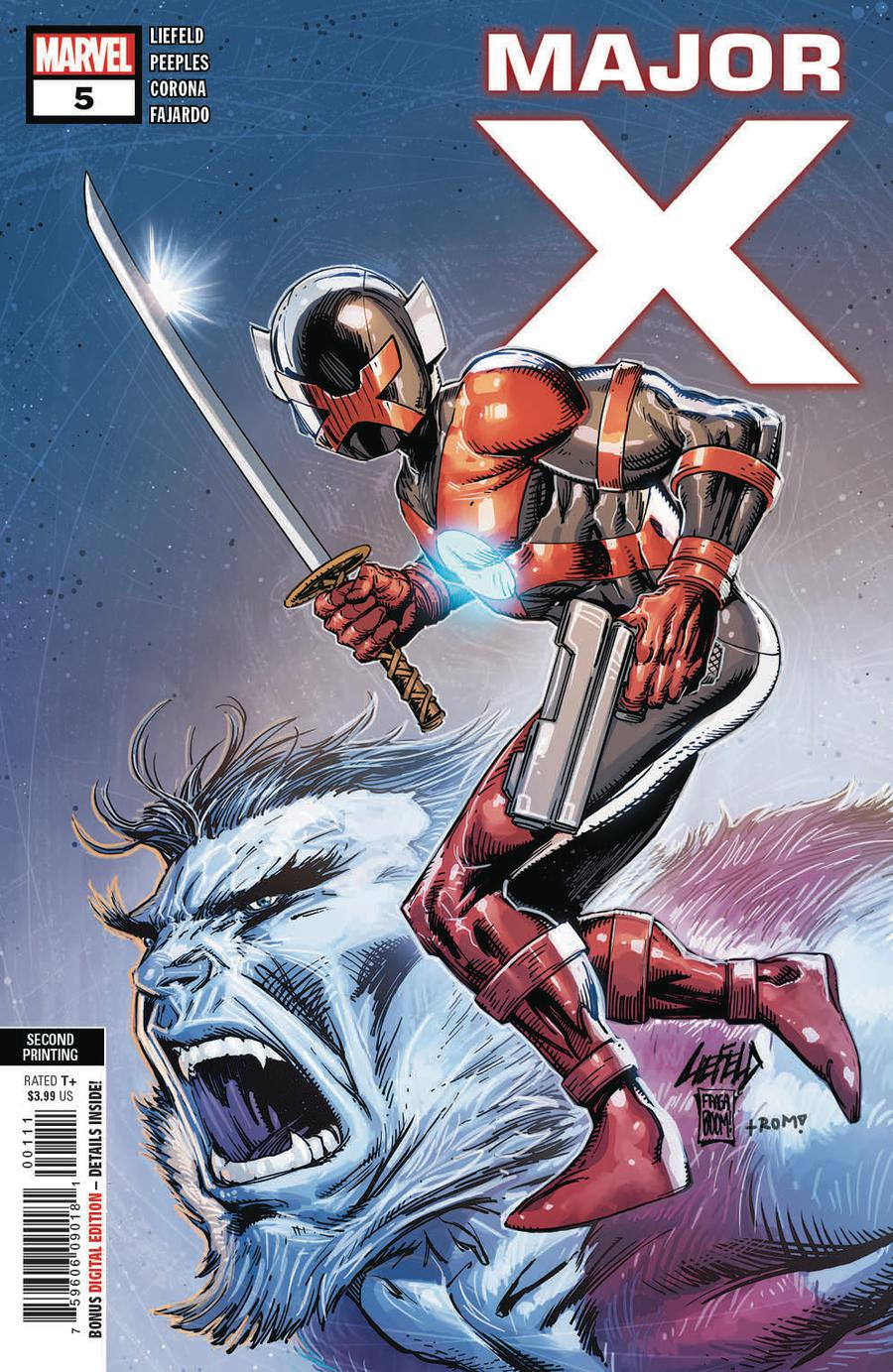 Major X #5 Cover B 2nd Ptg Variant Rob Liefeld Cover