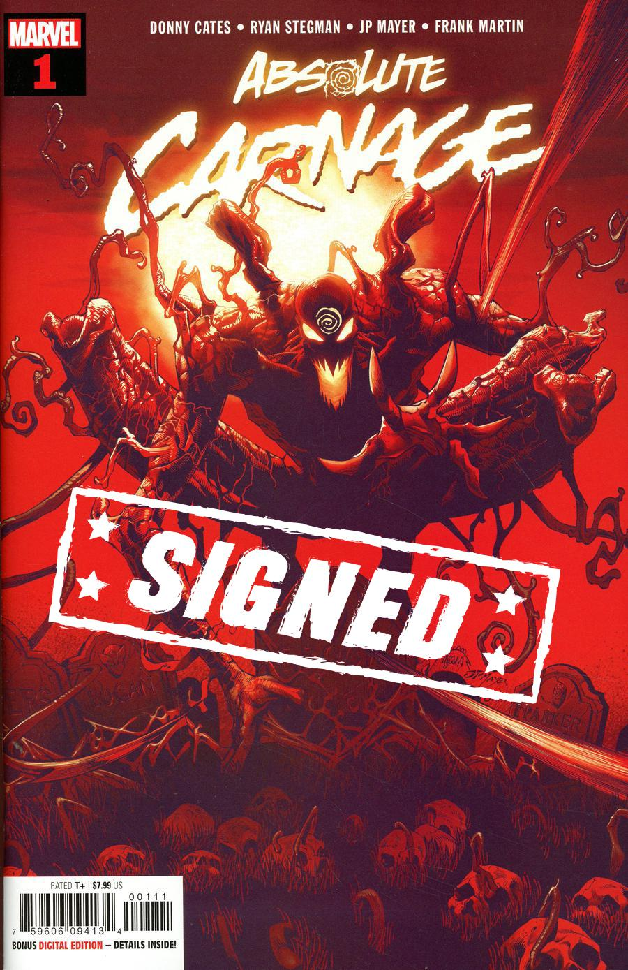 Absolute Carnage #1 Cover R Regular Ryan Stegman Cover Signed By Ryan Stegman