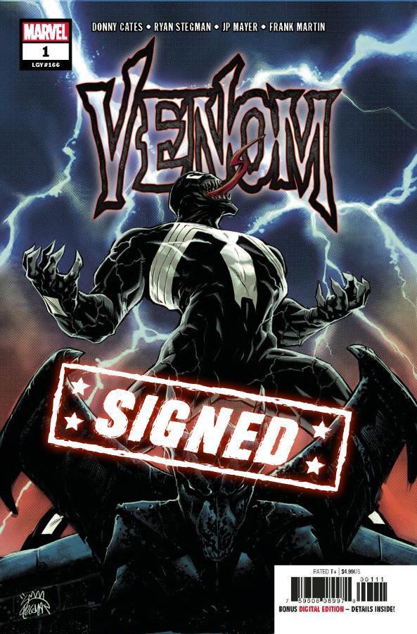 Venom Vol 4 #1 Cover S 1st Ptg Regular Ryan Stegman Cover Signed By Donny Cates & Ryan Stegman