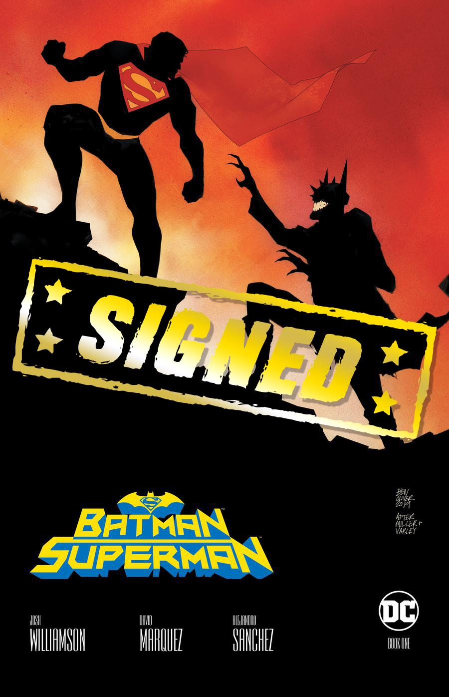 Batman Superman Vol 2 #1  Midtown Exclusive Ben Oliver Variant Cover Signed By Joshua Williamson