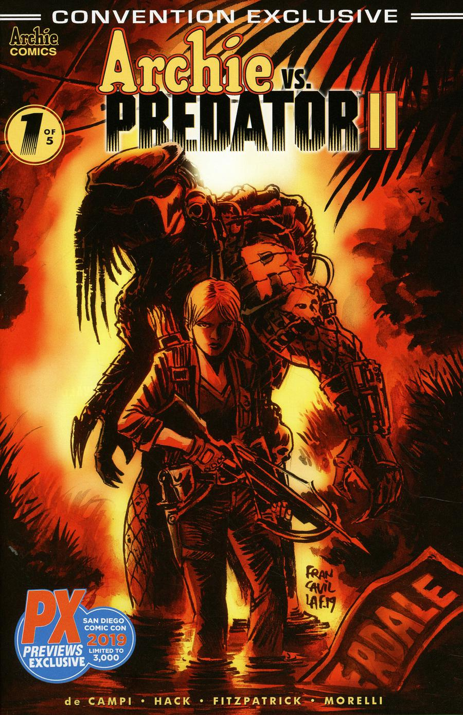 Archie vs Predator II #1 Cover G SDCC 2019 Exclusive Variant Cover