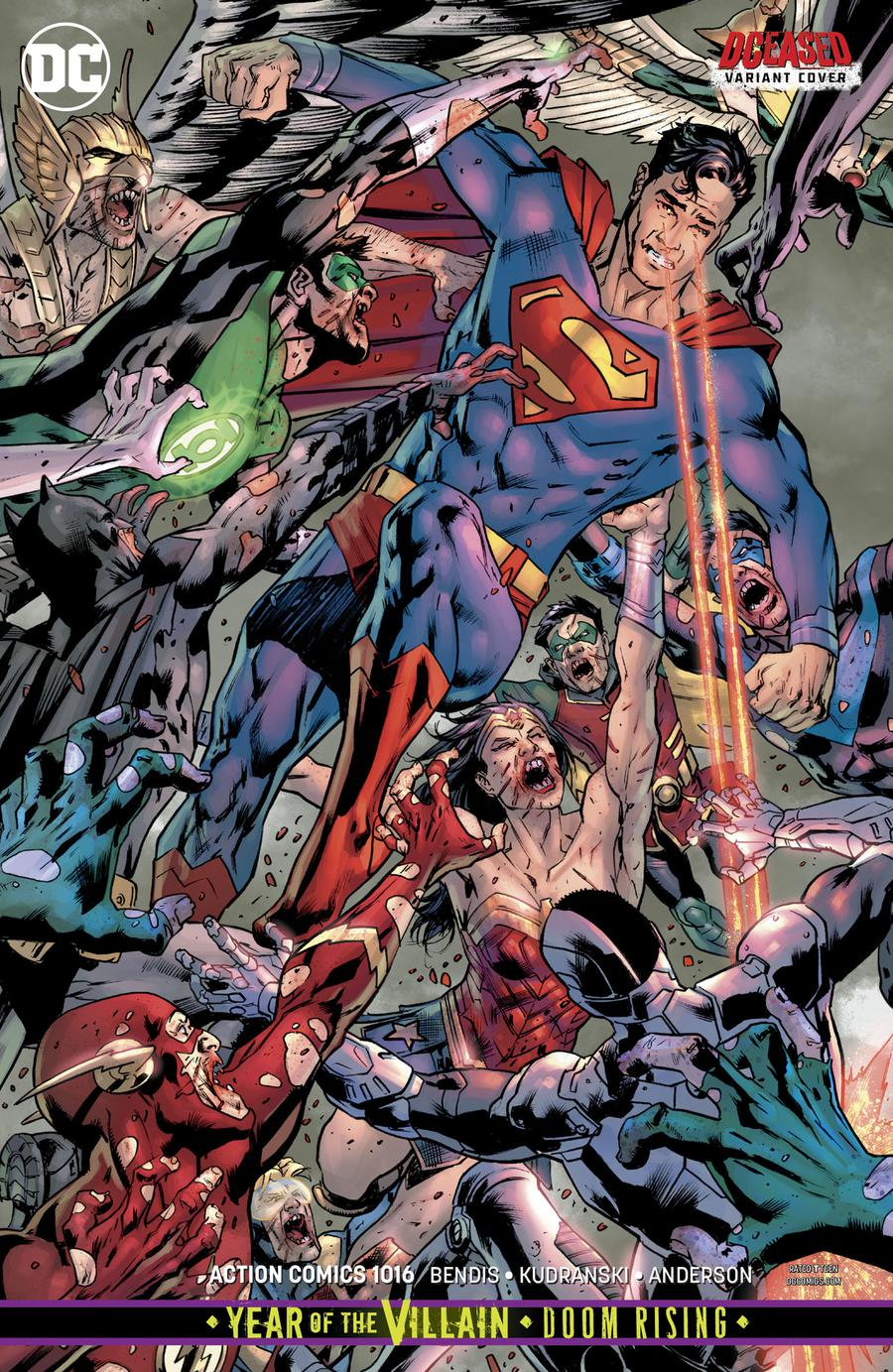 Action Comics Vol 2 #1016 Cover B Variant Bryan Hitch DCeased Cover (Year Of The Villain Doom Rising Tie-In)