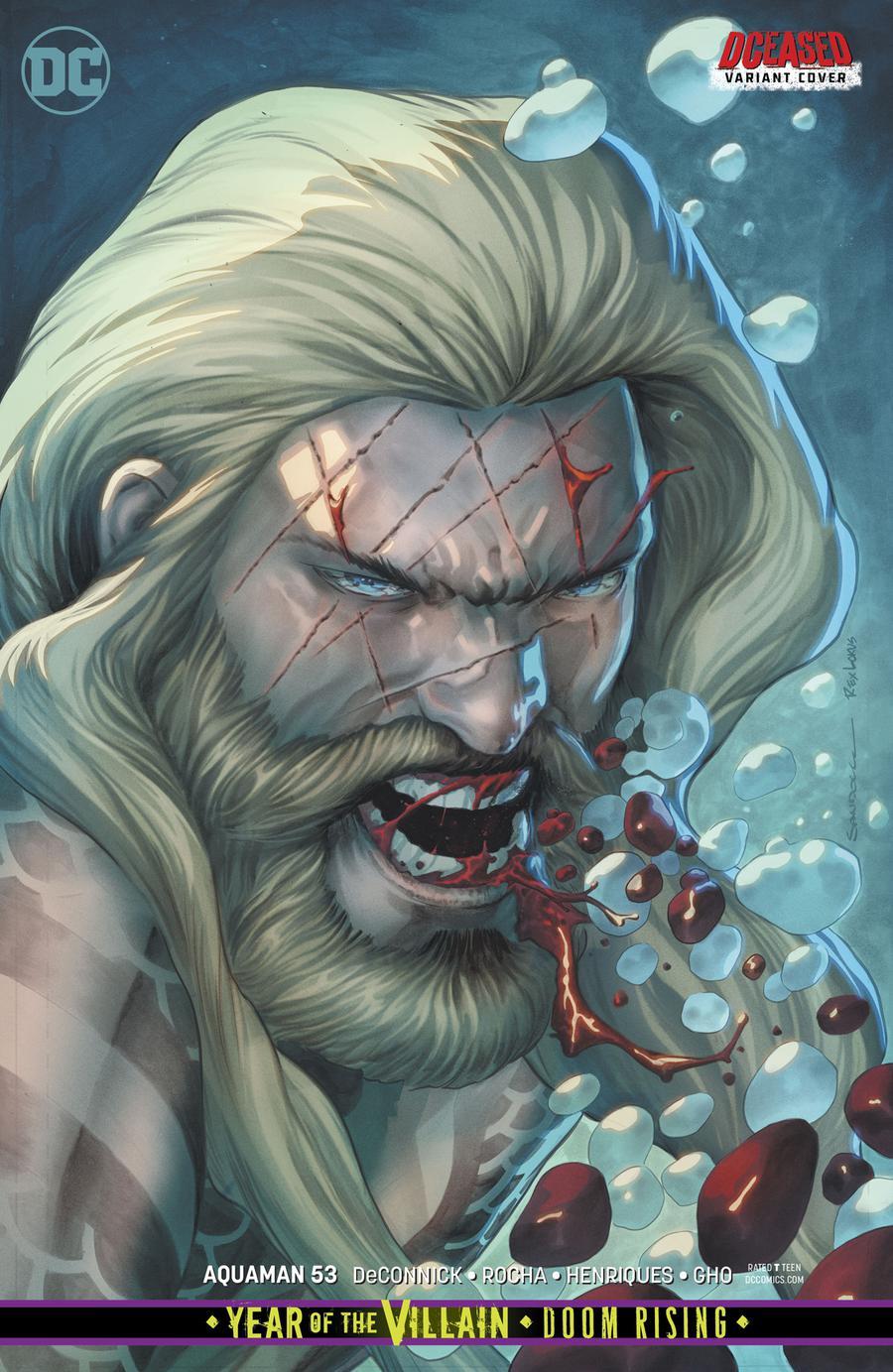 Aquaman Vol 6 #53 Cover B Variant Rafa Sandoval DCeased Cover (Year Of The Villain Doom Rising Tie-In)