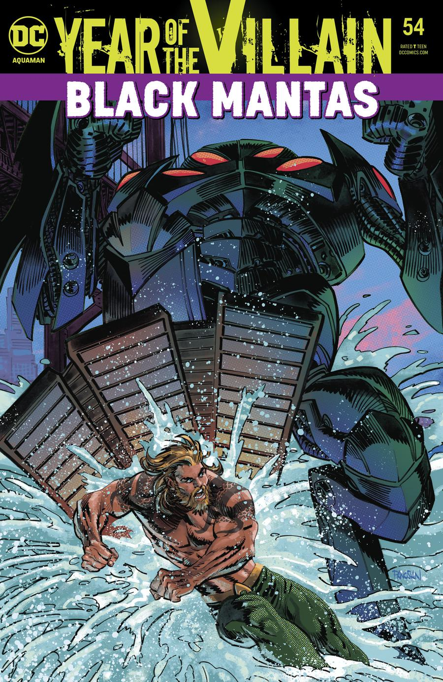 Aquaman Vol 6 #54 Cover A Regular Dan Panosian Acetate Cover (Year Of The Villain Hostile Takeover Tie-In)