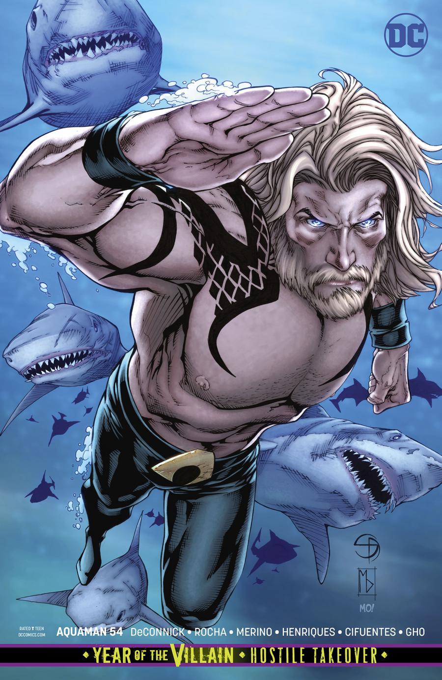 Aquaman Vol 6 #54 Cover B Variant Shane Davis & Michelle Delecki Card Stock Cover (Year Of The Villain Hostile Takeover Tie-In)