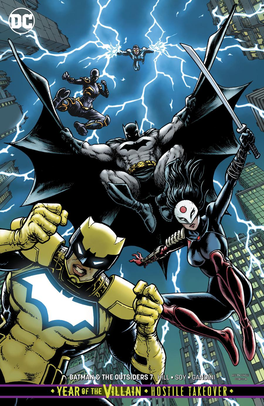 Batman And The Outsiders Vol 3 #7 Cover B Variant Chris Burnham Cover (Year Of The Villain Hostile Takeover Tie-In)