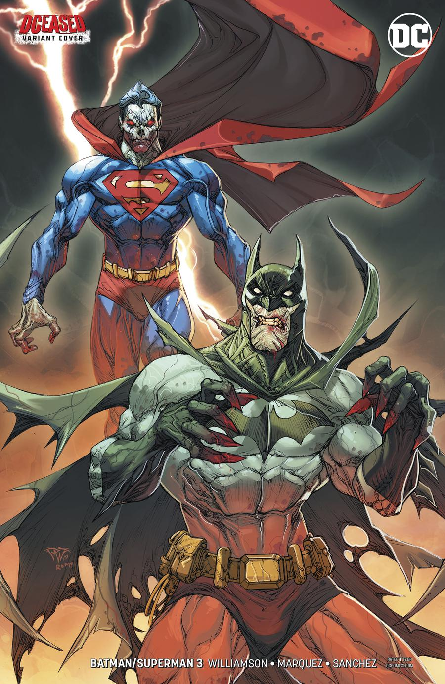 Batman Superman Vol 2 #3 Cover B Variant Paolo Pantalena DCeased Cover
