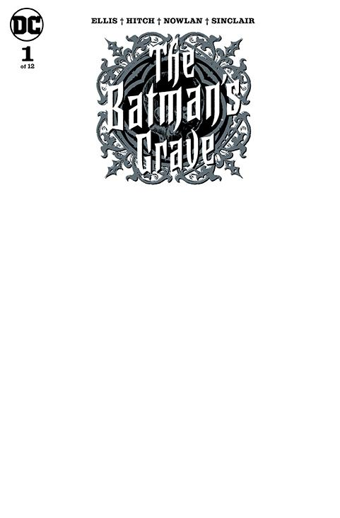 Batmans Grave #1 Cover C Variant Blank Cover