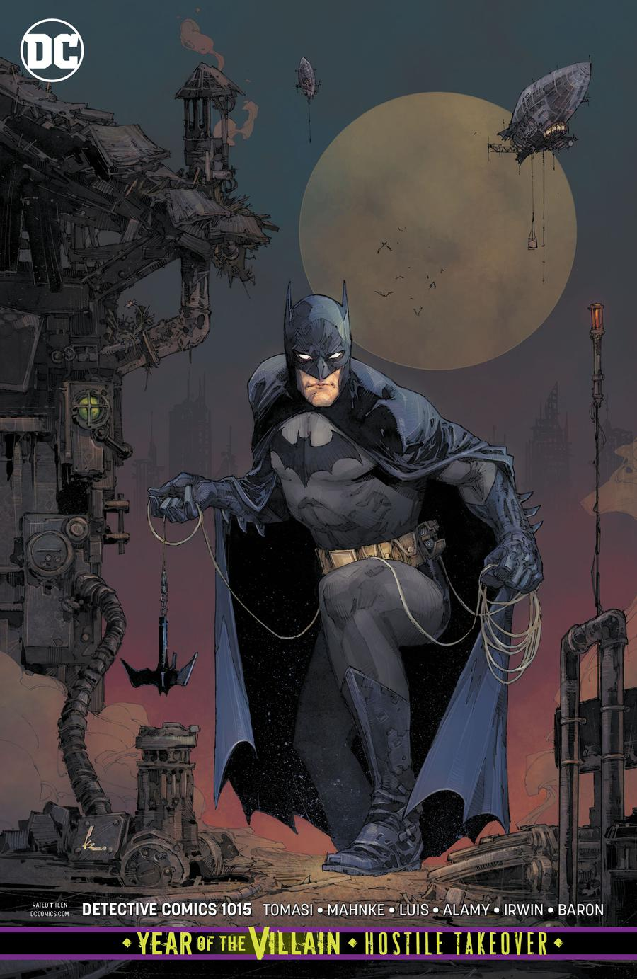Detective Comics Vol 2 #1015 Cover B Variant Kenneth Rocafort Card Stock Cover (Year Of The Villain Hostile Takeover Tie-In)