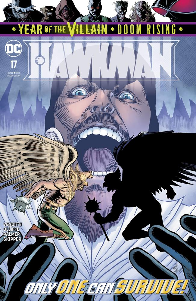 Hawkman Vol 5 #17 Cover A Regular Pat Olliffe & Tom Palmer Cover (Year Of The Villain Doom Rising Tie-In)