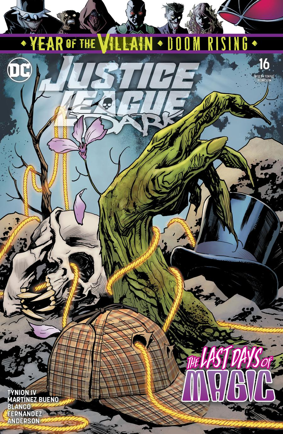 Justice League Dark Vol 2 #16 Cover A Regular Yanick Paquette Cover (Year Of The Villain Doom Rising Tie-In)