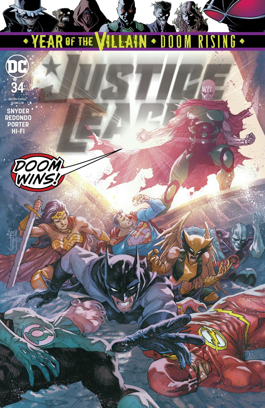 Justice League Vol 4 #34 Cover A Regular Francis Manapul Cover (Year Of The Villain Doom Rising Tie-In)