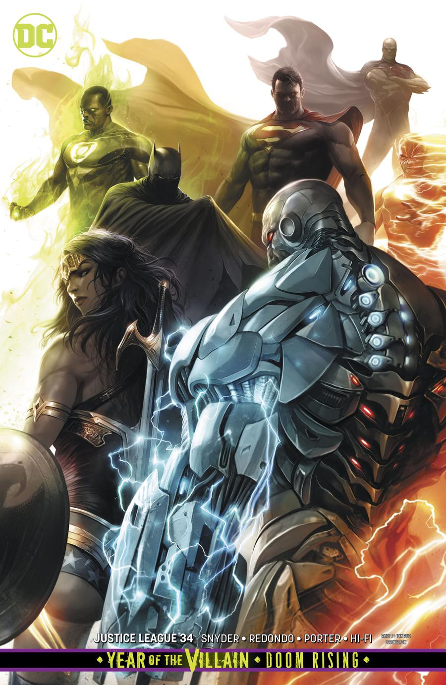 Justice League Vol 4 #34 Cover B Variant Francesco Mattina Card Stock Cover (Year Of The Villain Doom Rising Tie-In)