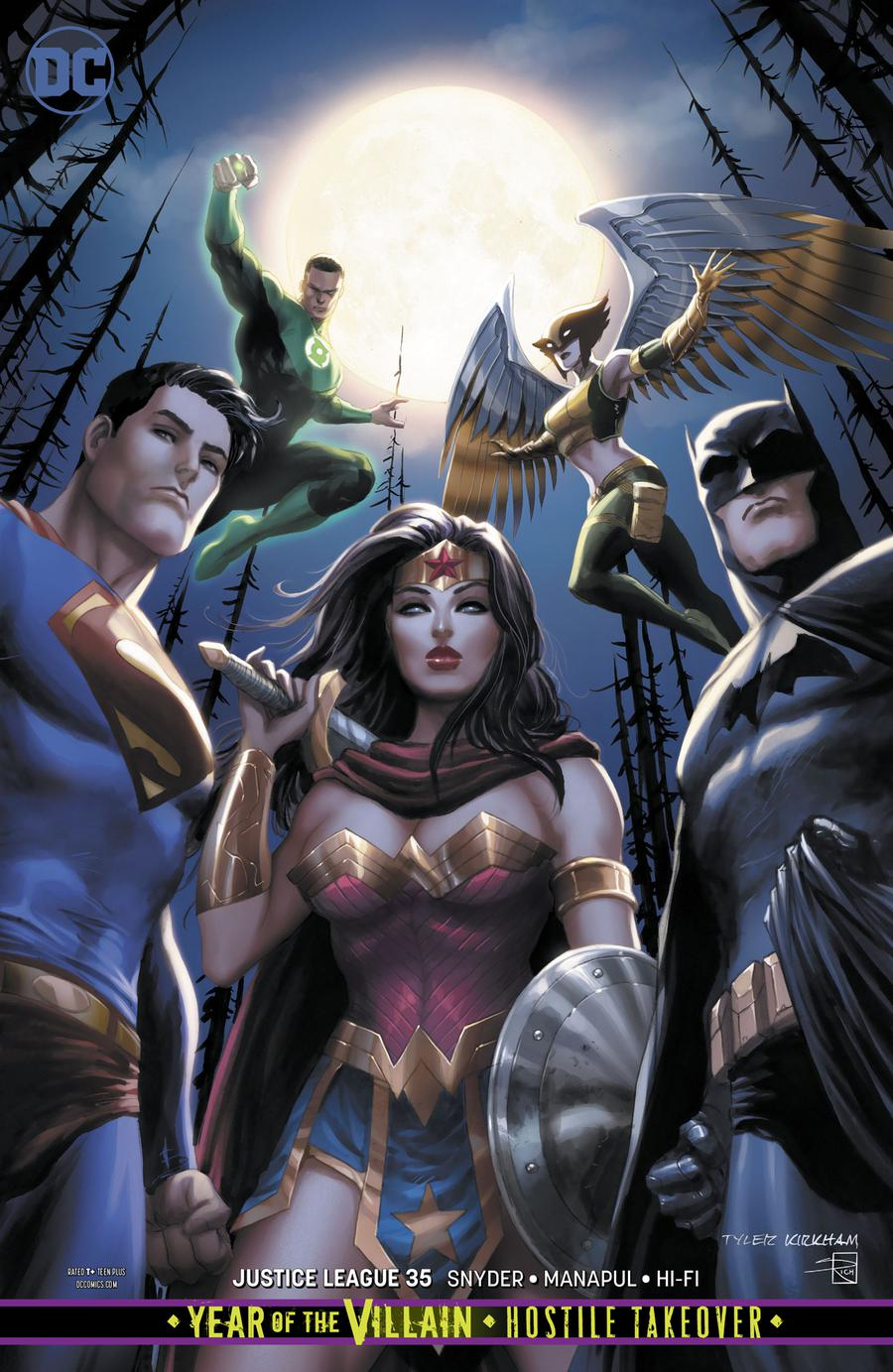 Justice League Vol 4 #35 Cover B Variant Tyler Kirkham Cover (Year Of The Villain Hostile Takeover Tie-In)