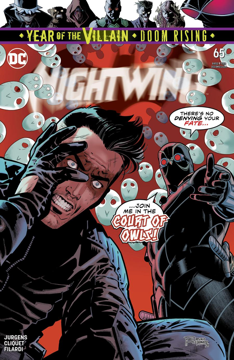 Nightwing Vol 4 #65 Cover A Regular Bruno Redondo Cover (Year Of The Villain Doom Rising Tie-In)