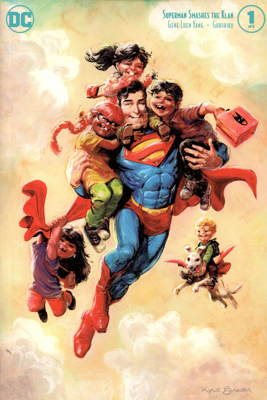 Superman Smashes The Klan #1 Cover B Variant Kyle Baker Cover