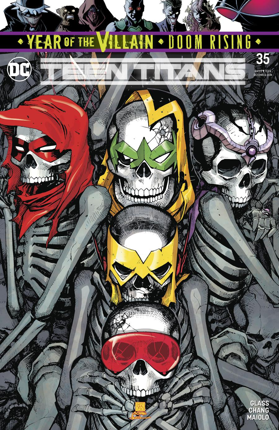 Teen Titans Vol 6 #35 Cover A Regular Bernard Chang Cover (Year Of The Villain Doom Rising Tie-In)