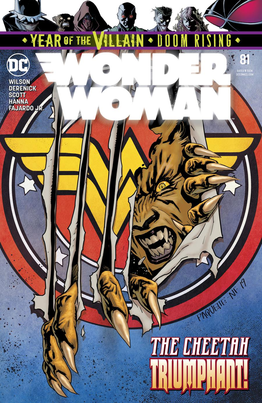 Wonder Woman Vol 5 #81 Cover A Regular Yanick Paquette Cover (Year Of The Villain Doom Rising Tie-In)