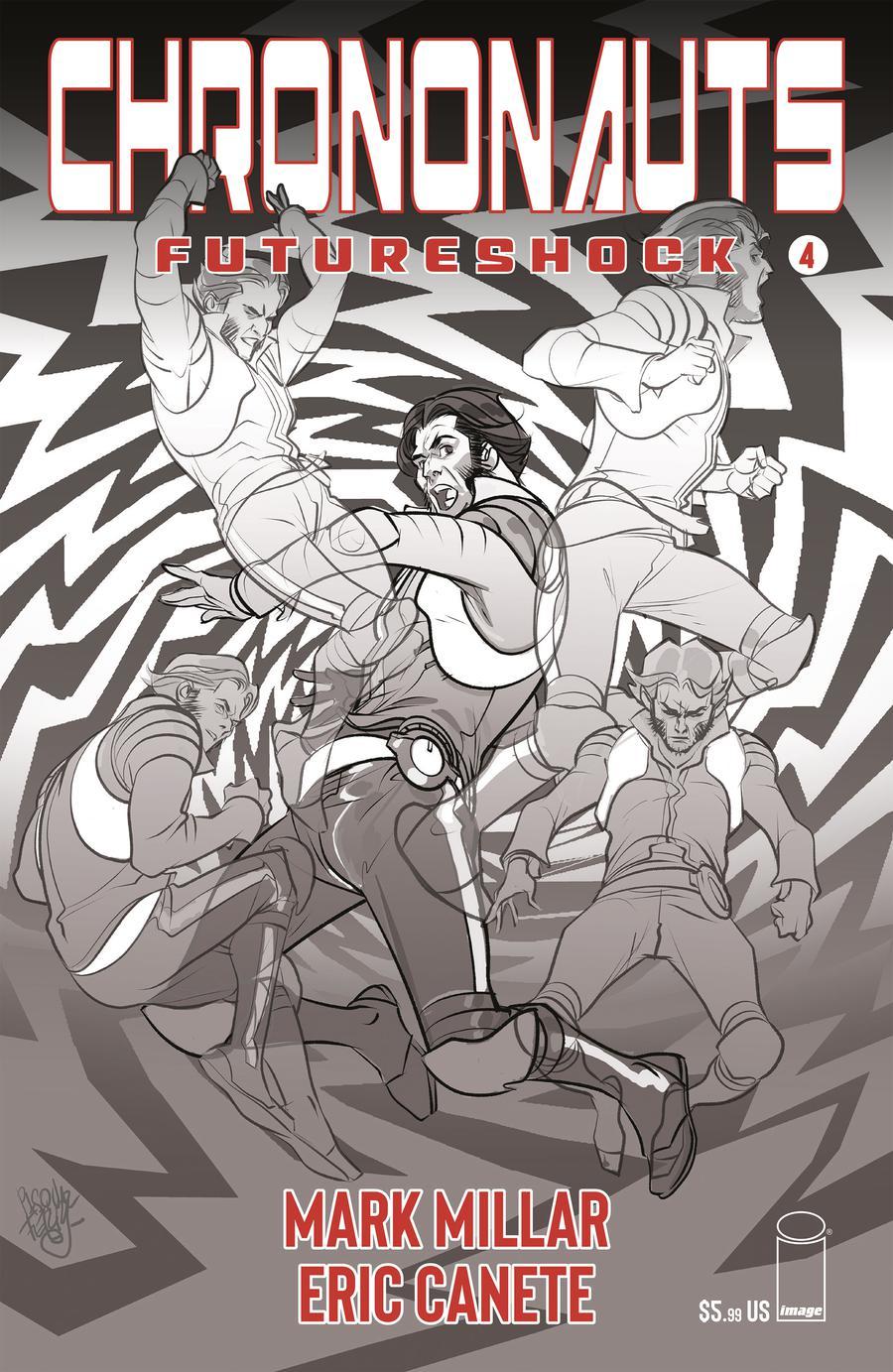 Chrononauts Futureshock #4 Cover B Variant Pasqual Ferry Black & White Cover