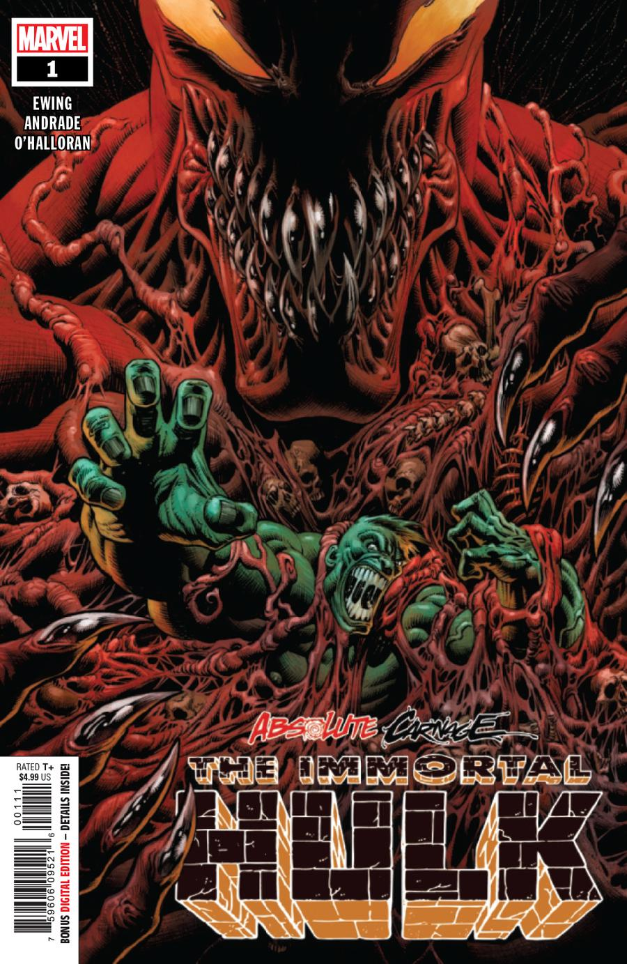 Absolute Carnage Immortal Hulk #1 Cover A 1st Ptg Regular Kyle Hotz Cover
