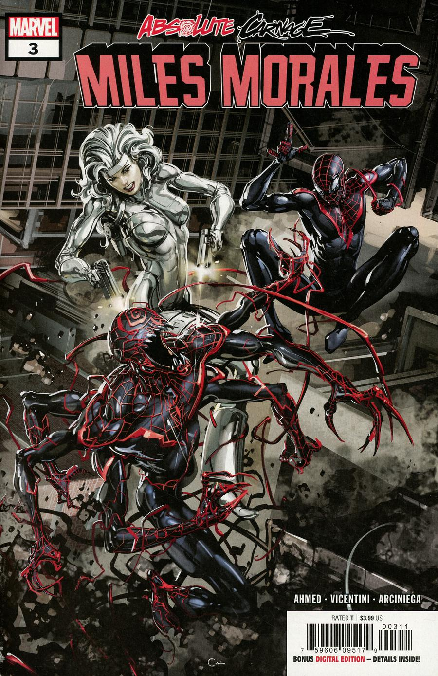 Absolute Carnage Miles Morales #3 Cover A Regular Clayton Crain Cover