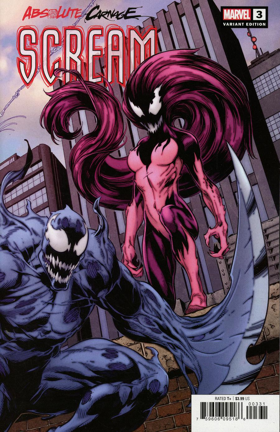 Absolute Carnage Scream #3 Cover B Variant Mark Bagley Connecting Cover