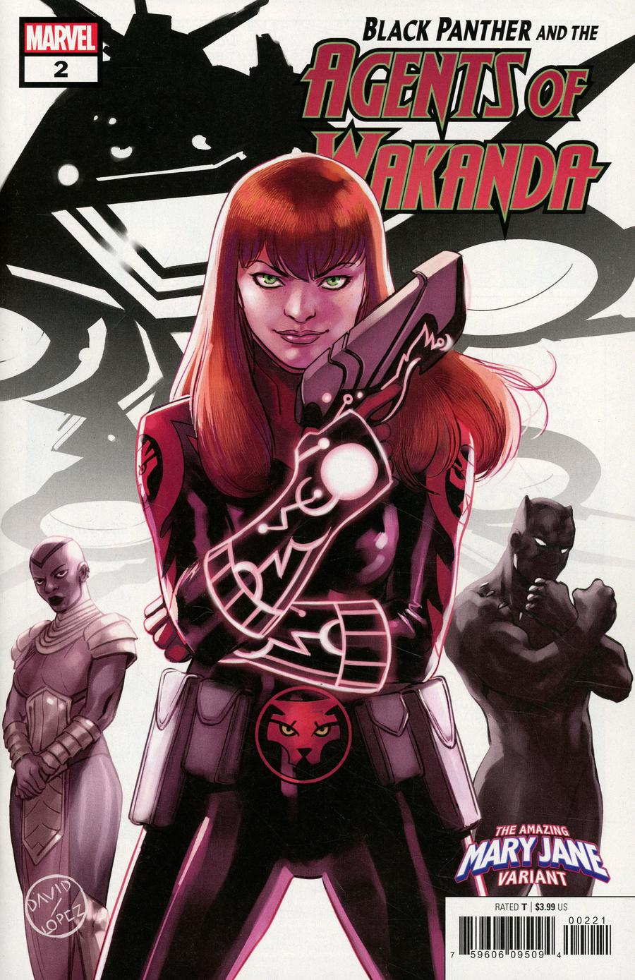 Black Panther And The Agents Of Wakanda #2 Cover B Variant David Lopez Mary Jane Cover