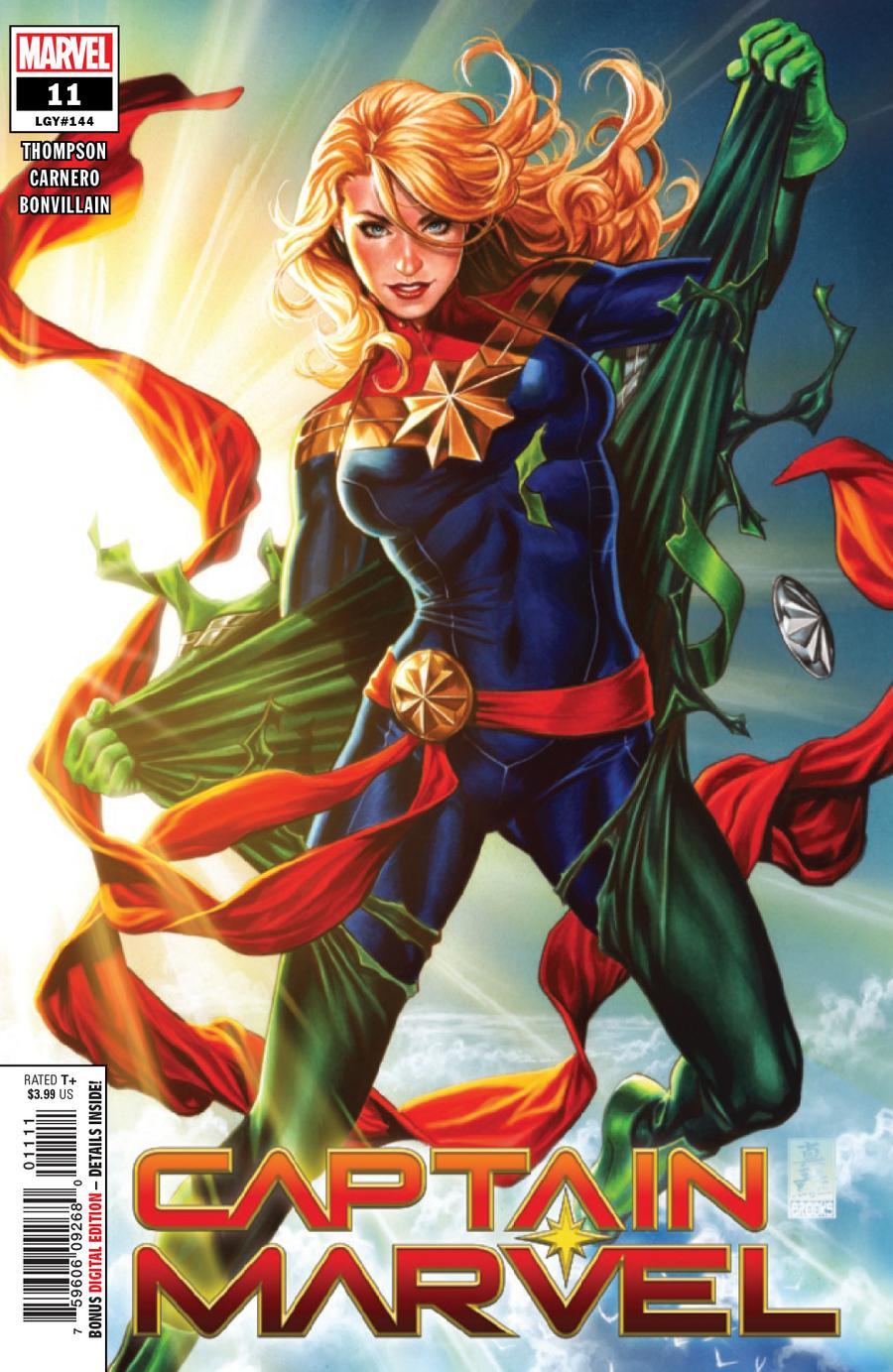 Captain Marvel Vol 9 #11 Cover A 1st Ptg Regular Mark Brooks Cover