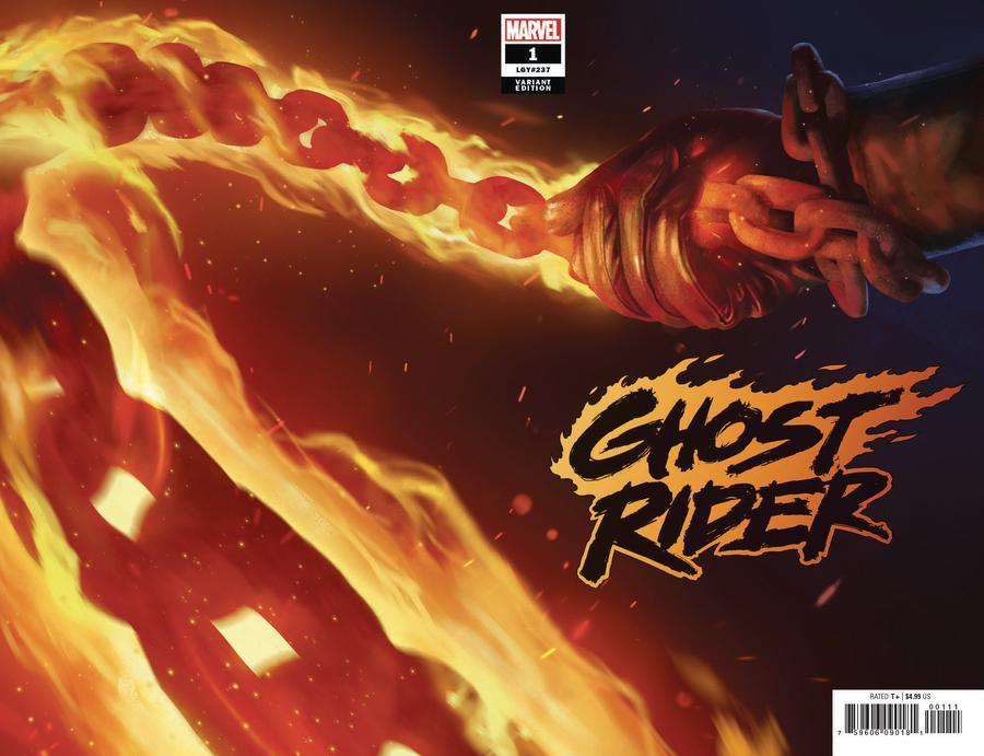 Ghost Rider Vol 8 #1 Cover B Variant Rahzzah Teaser Wraparound Cover