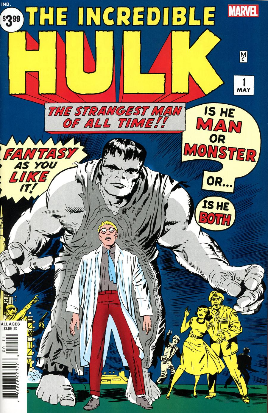 Incredible Hulk #1 Cover E Facsimile Edition