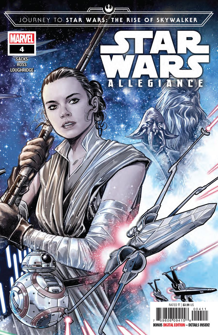 Journey To Star Wars The Rise Of Skywalker Allegiance #4 Cover A Regular Marco Checchetto Connecting Cover
