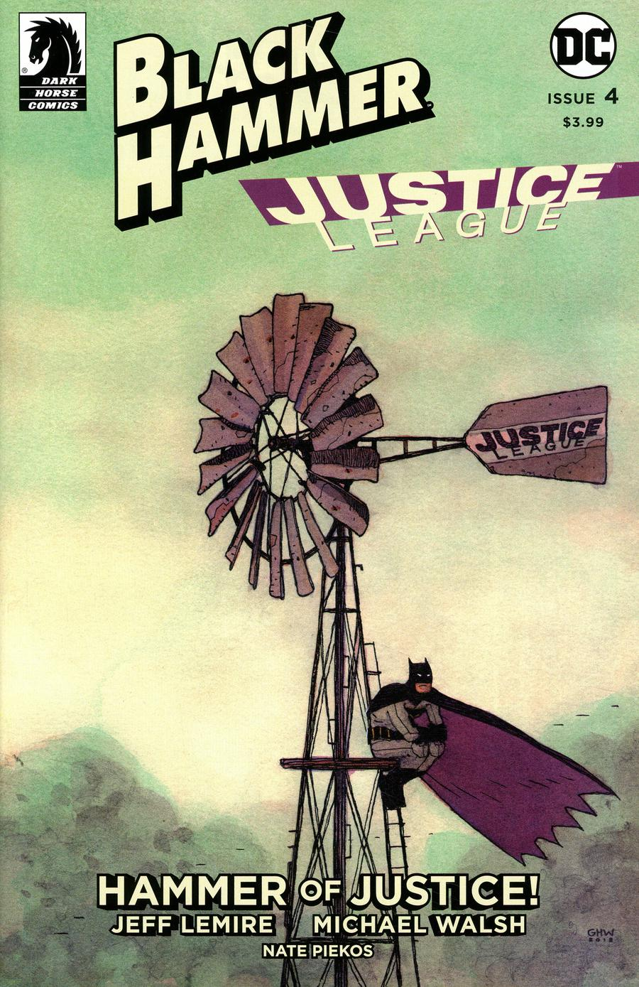 Black Hammer Justice League Hammer Of Justice #4 Cover D Variant Gabriel Walta Cover