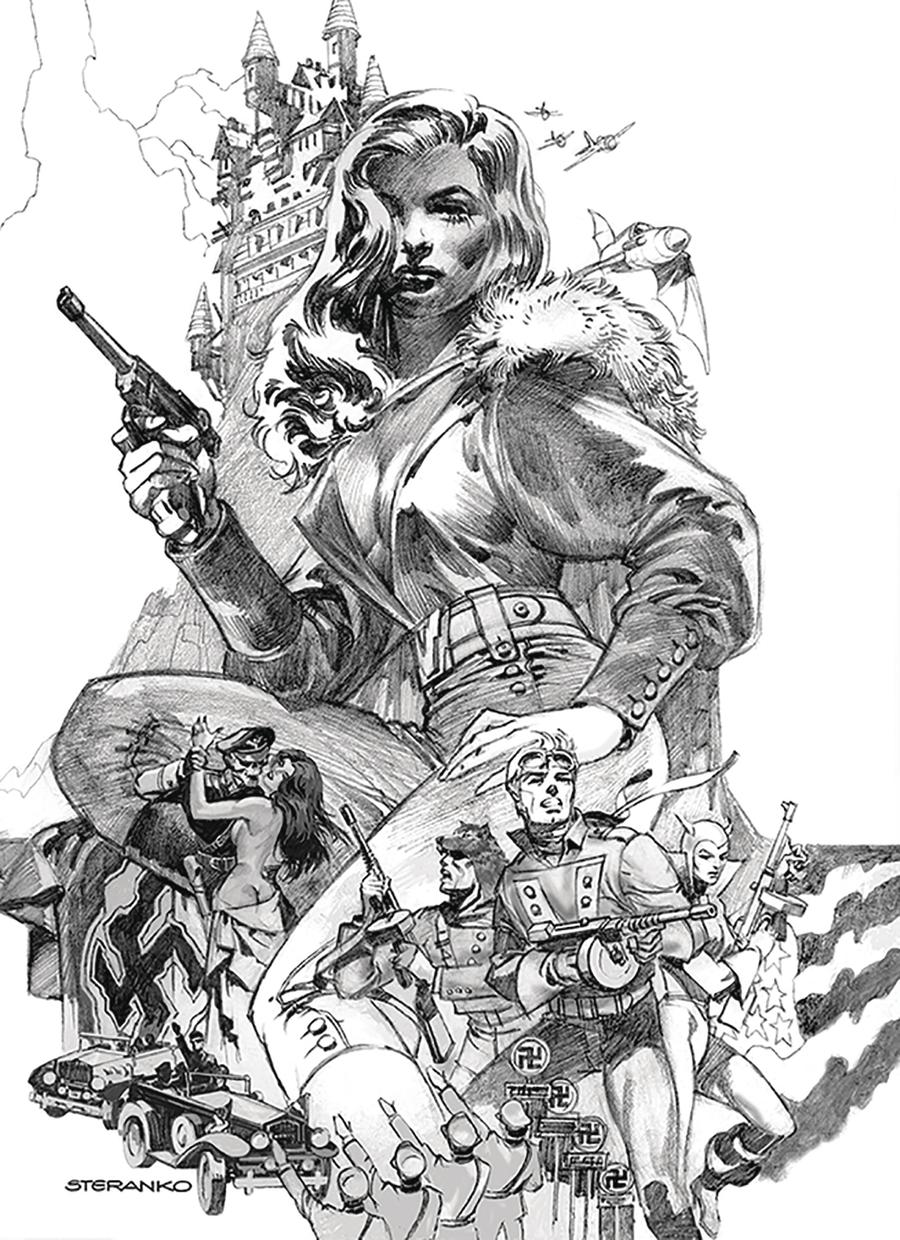 Airboy #51 Cover B Variant Jim Steranko Cover