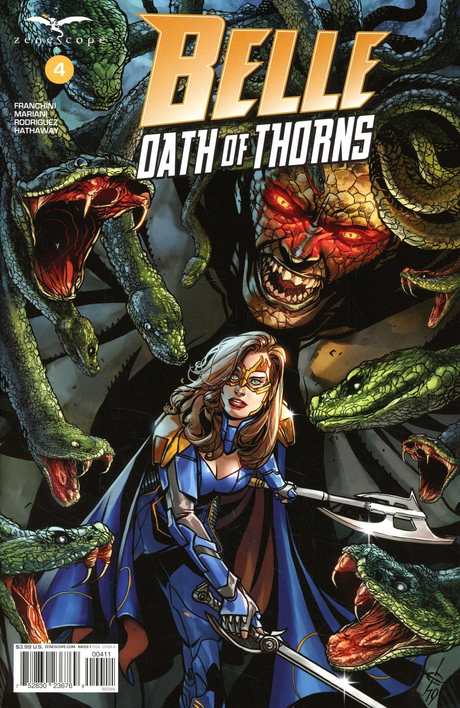 Grimm Fairy Tales Presents Belle Oath Of Thorns #4 Cover A Drew Edward Johnson
