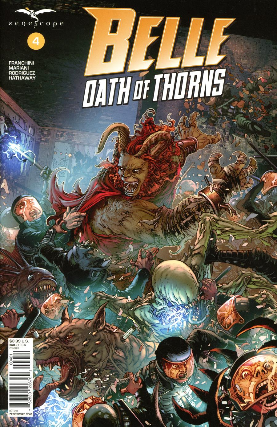 Grimm Fairy Tales Presents Belle Oath Of Thorns #4 Cover B Harvey Tolibao