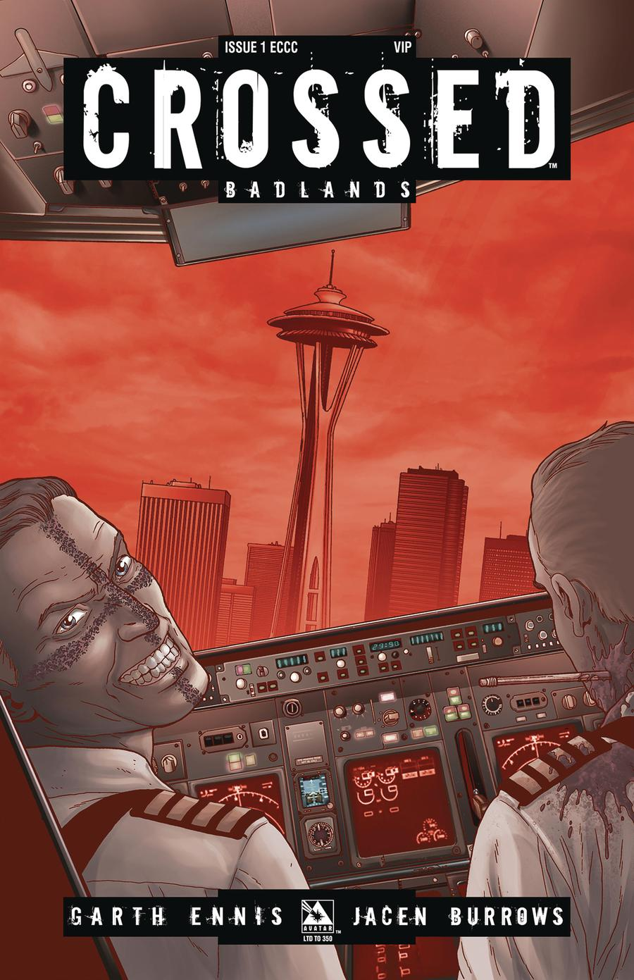 Crossed Badlands #1 Cover N Emerald City VIP Cover