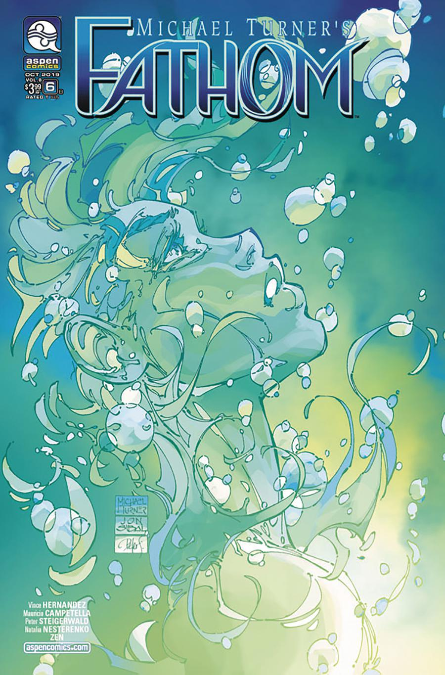 Fathom Vol 6 #6 Cover B Variant Michael Turner Cover