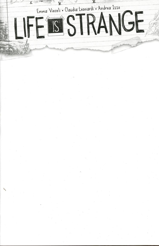 Life Is Strange #9 Cover E Variant Blank Cover