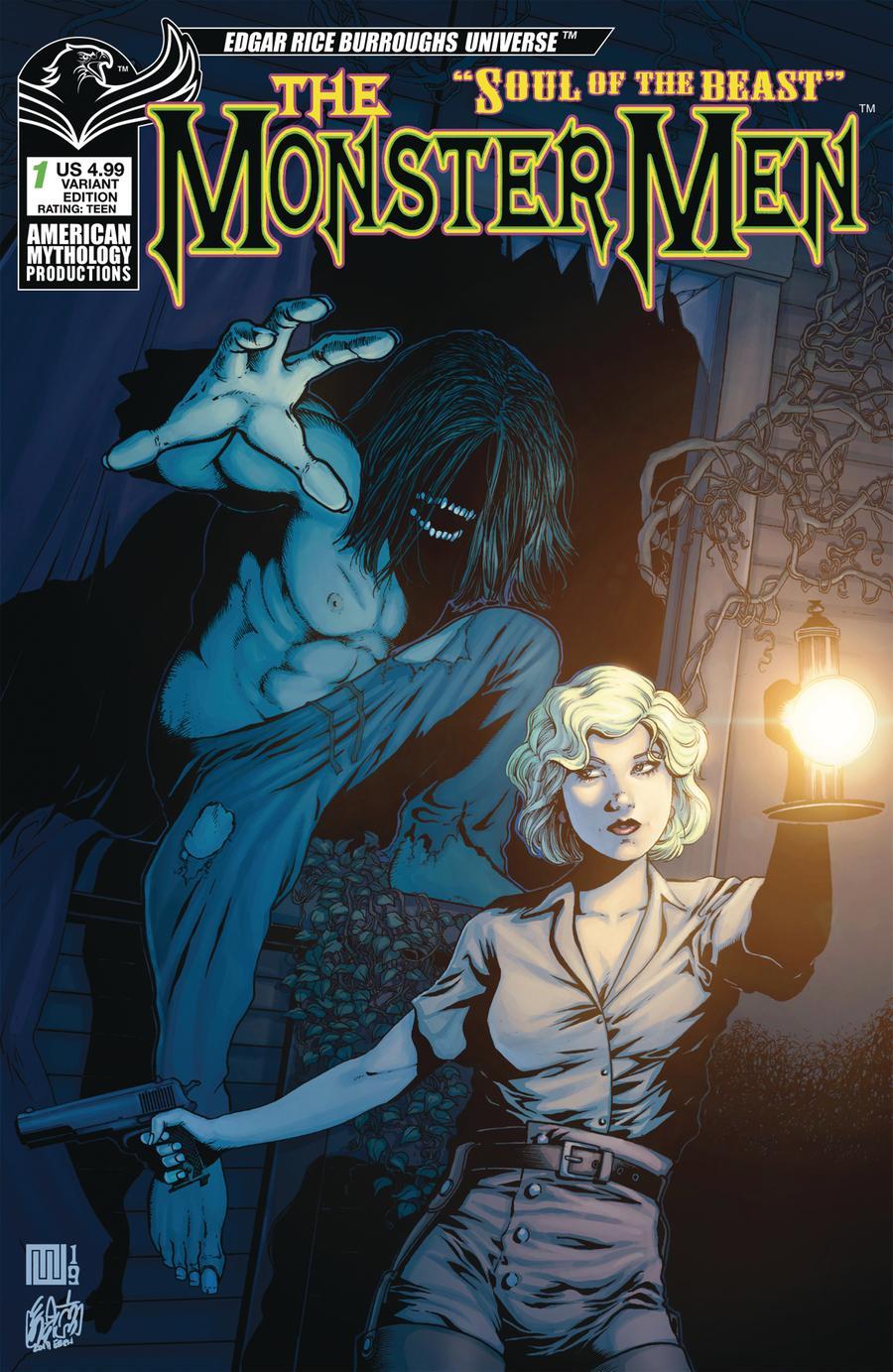 Monster Men Soul Of The Beast #1 Cover B Variant Mike Wolfer Creeping Doom Cover