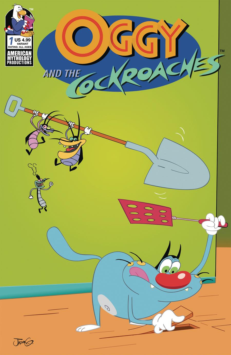 Oggy And The Cockroaches #1 Cover B Variant Dean Rankine Cover