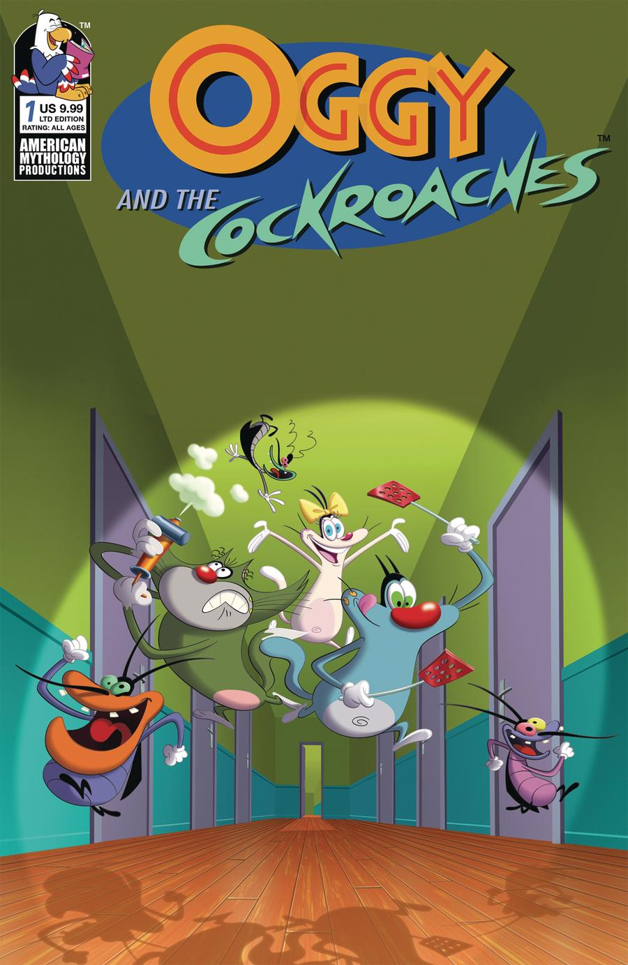 Oggy And The Cockroaches #1 Cover C Limited Edition Animation Cel Variant Cover