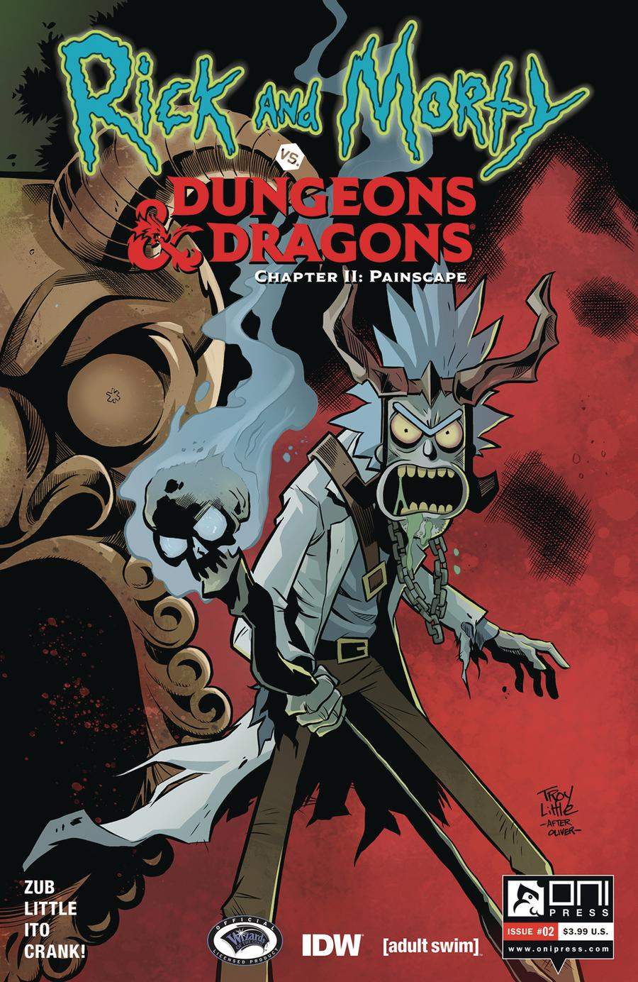 Rick And Morty vs Dungeons & Dragons Chapter II Painscape #2 Cover A Regular Troy Little Cover